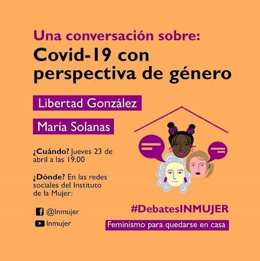 Debate Instituto Mujer Igualdad Oportunidades Covid con Perspectiva de Genero