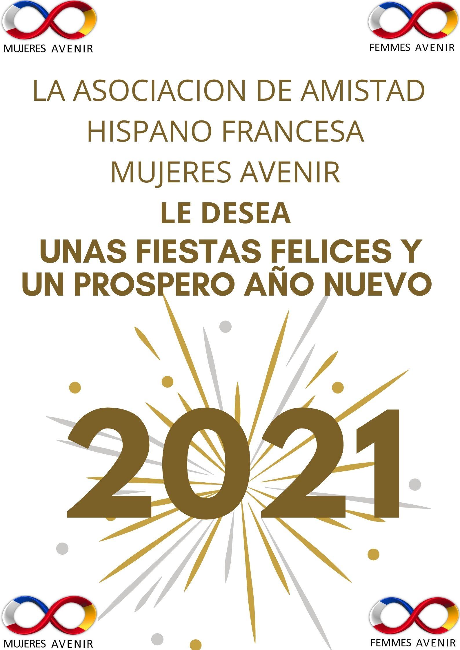 Feliz Navidad Prospero 2021 Mujeres Avenir